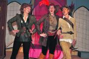 The Three Musketeers, from left, Rachel Hartley, Kate Lister and Kim Bradley