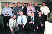 Division 5 champions Stanton Harcourt pictured with guest speaker Jeremy Coney