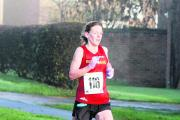 Sophie Carter on her way to winning the ladies' title at the Eynsham 10k