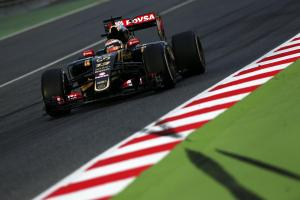 MOTORSPORT: Lotus duo Grosjean and Maldonado set the pace in Barcelona