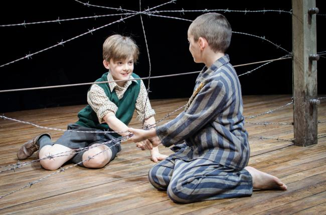 Cameron Duncan, left, as Bruno, with Sam Peterson as Shmuel