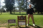 Richard Squires pictured at Cotswolds Club, Chipping Norton, where he hit a three-under par Albatross at the 11th hole