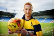 Ryan Taylor pictured at the Kassam Stadium after signing yesterday