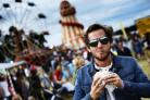 Rory Kilpatrick tucks into a pork and crackling roll at last year's Big Feastival
