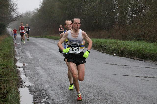 Witney Road Runner Tony Lock heads for victory in his V50 age group. Picture: Barry Cornelius