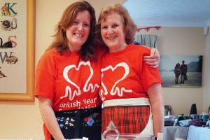 Heart attack survivor helps fund research charity with bake sale