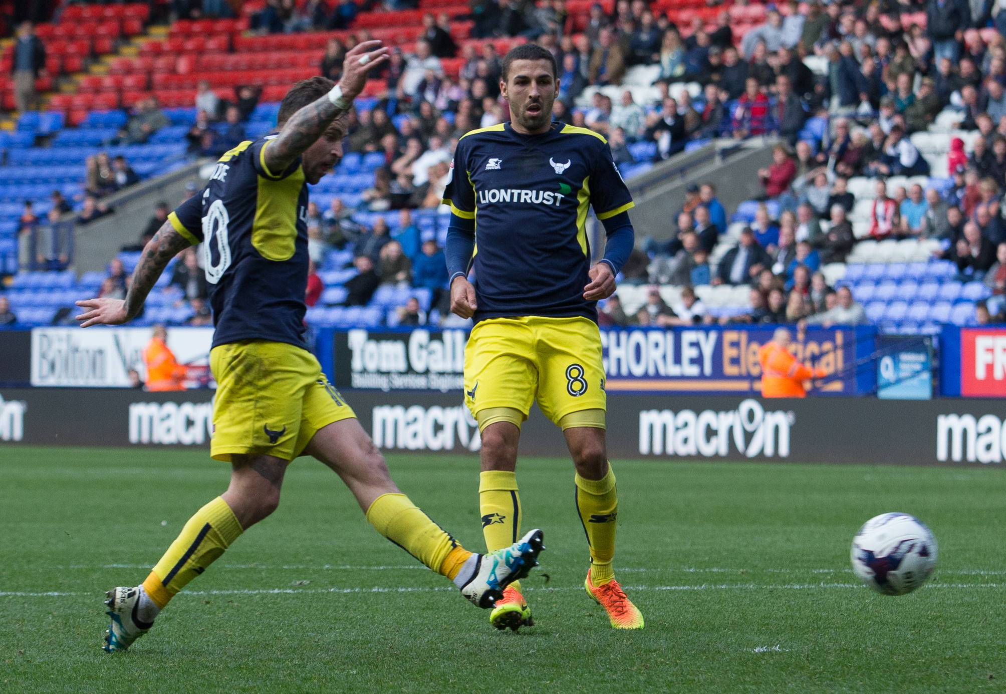 THAT SEALS IT: Chris Maguire strokes home to put Oxford United 2-0 ahead in the final minute of normal time Picture: James Williamson