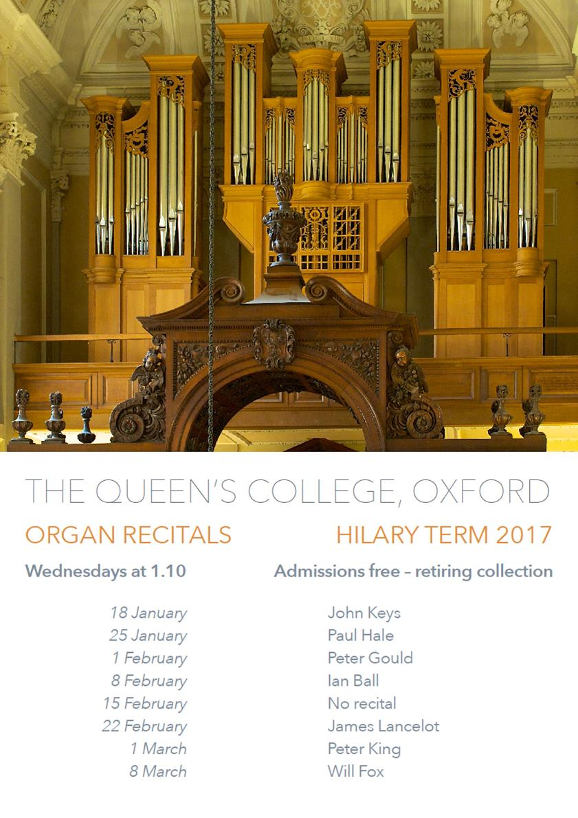 The Queen's College, Organ Recital Series