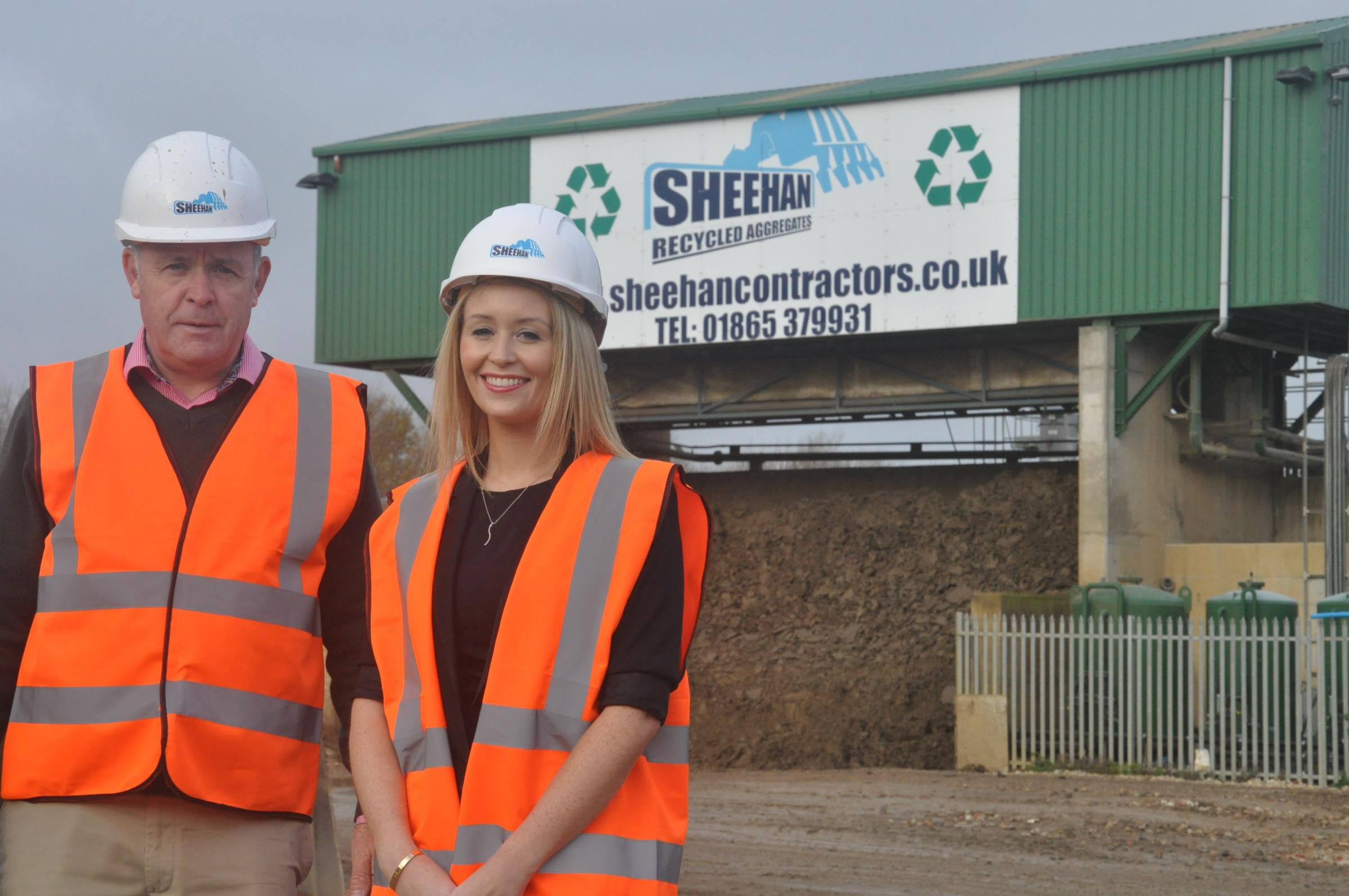 Chris Sheehan, managing director of the Sheehan Group, and Tara Sheehan, finance director, at the company's recycling plant in Stanton Harcourt, near Oxford. Picture Greig Box Turnbull