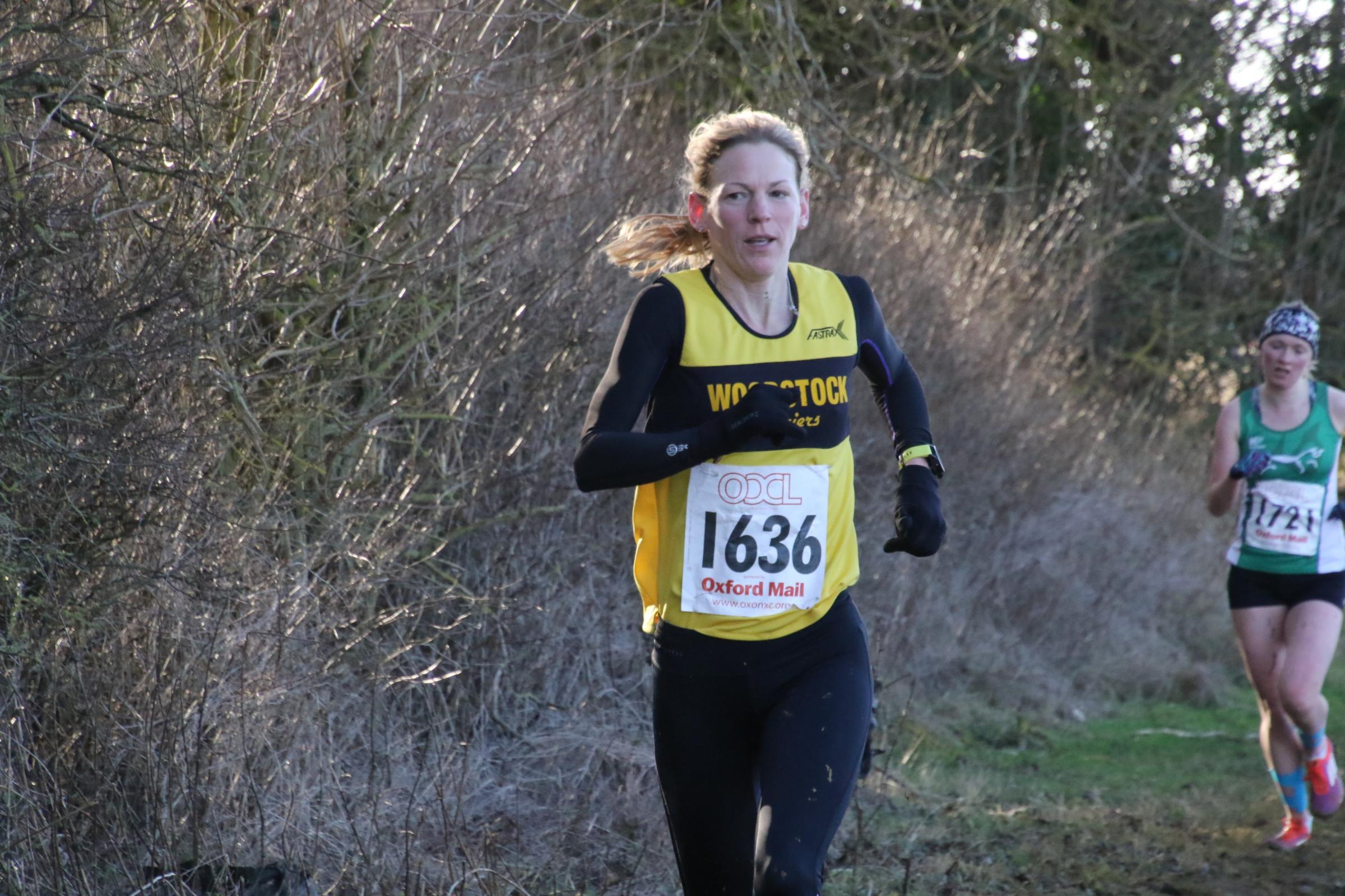 Sophie Carter, pictured in action during the third round of the Oxford Mail Cross Country League, at Adderbury last month Picture: Barry Cornelius
