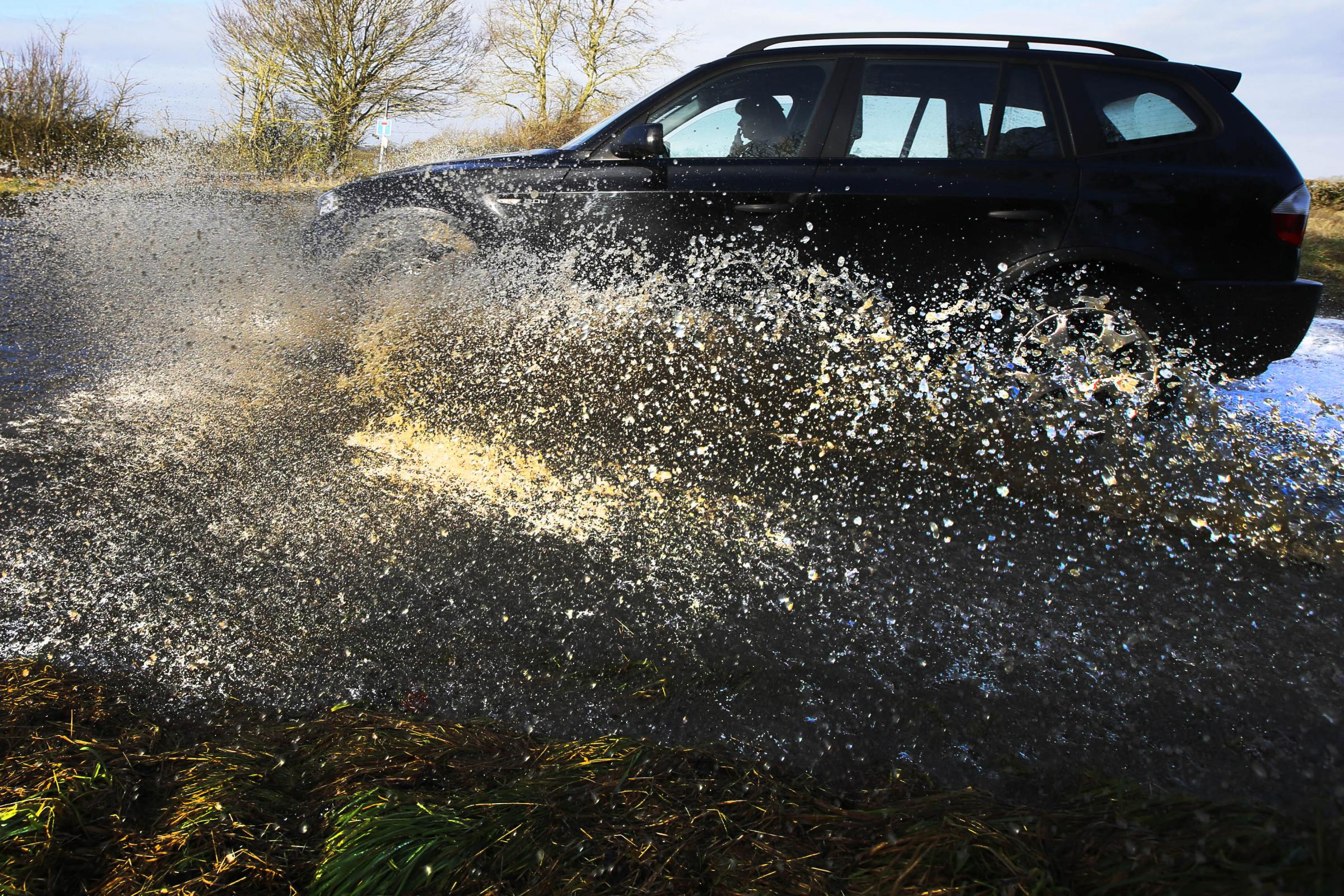 Splashing people in your car 'is not funny' and you could get fined
