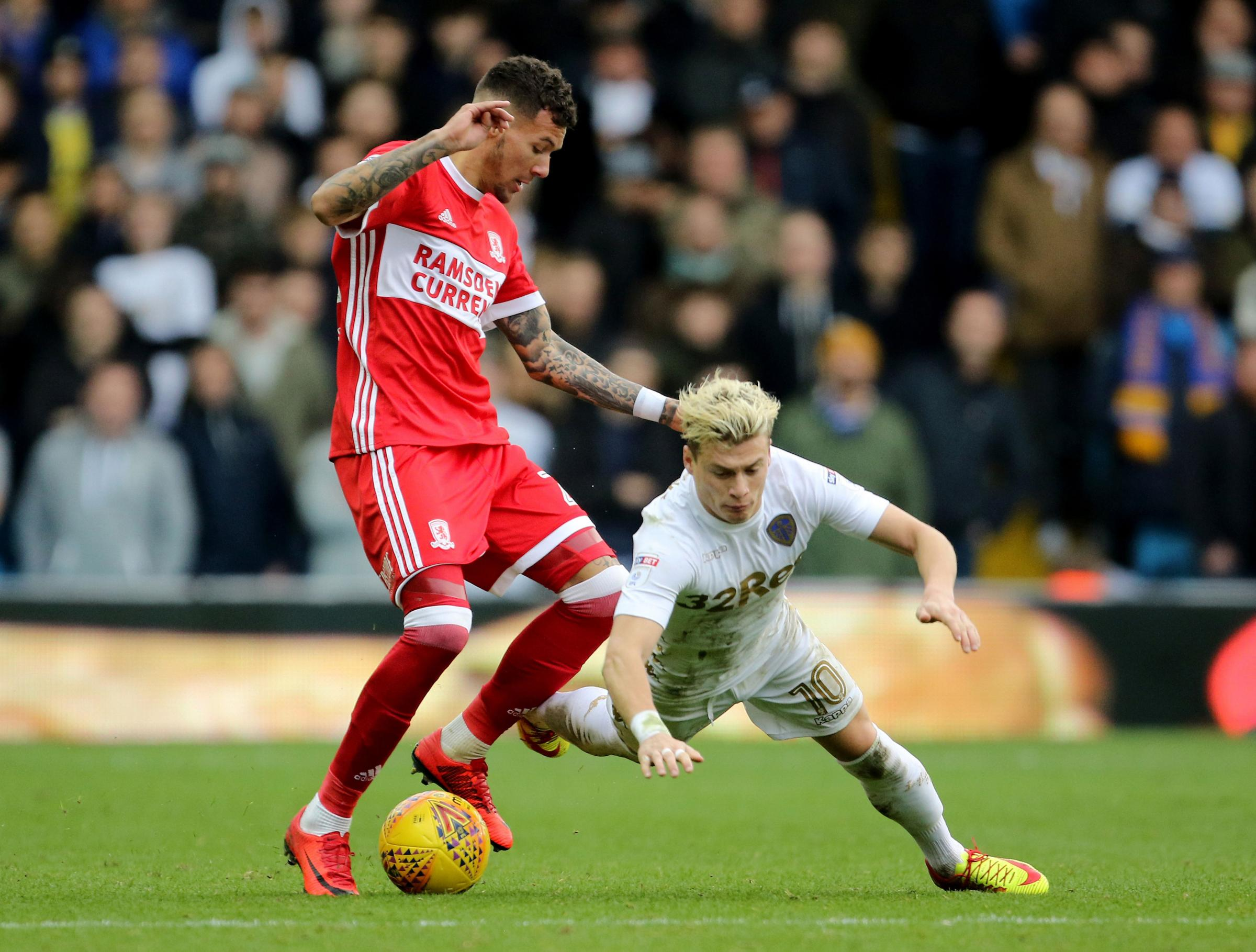 Marvin Johnson in action for Middlesbrough at Leeds United in November  Picture: Richard Sellers/PA Wire