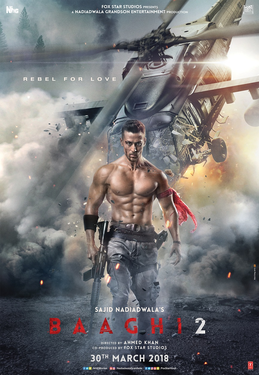 Tiger Shroff, The Rebel For Love, Returns in Baaghi 2