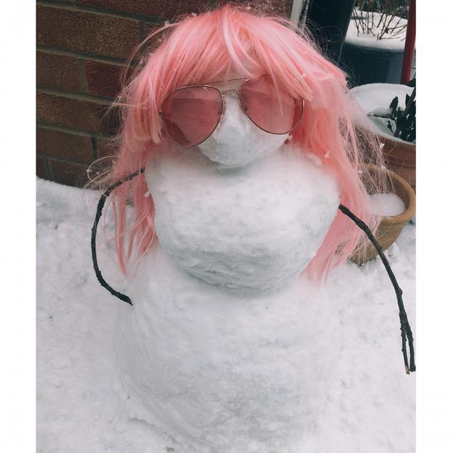 A strong, sassy, independent snowoman in Wheatley.