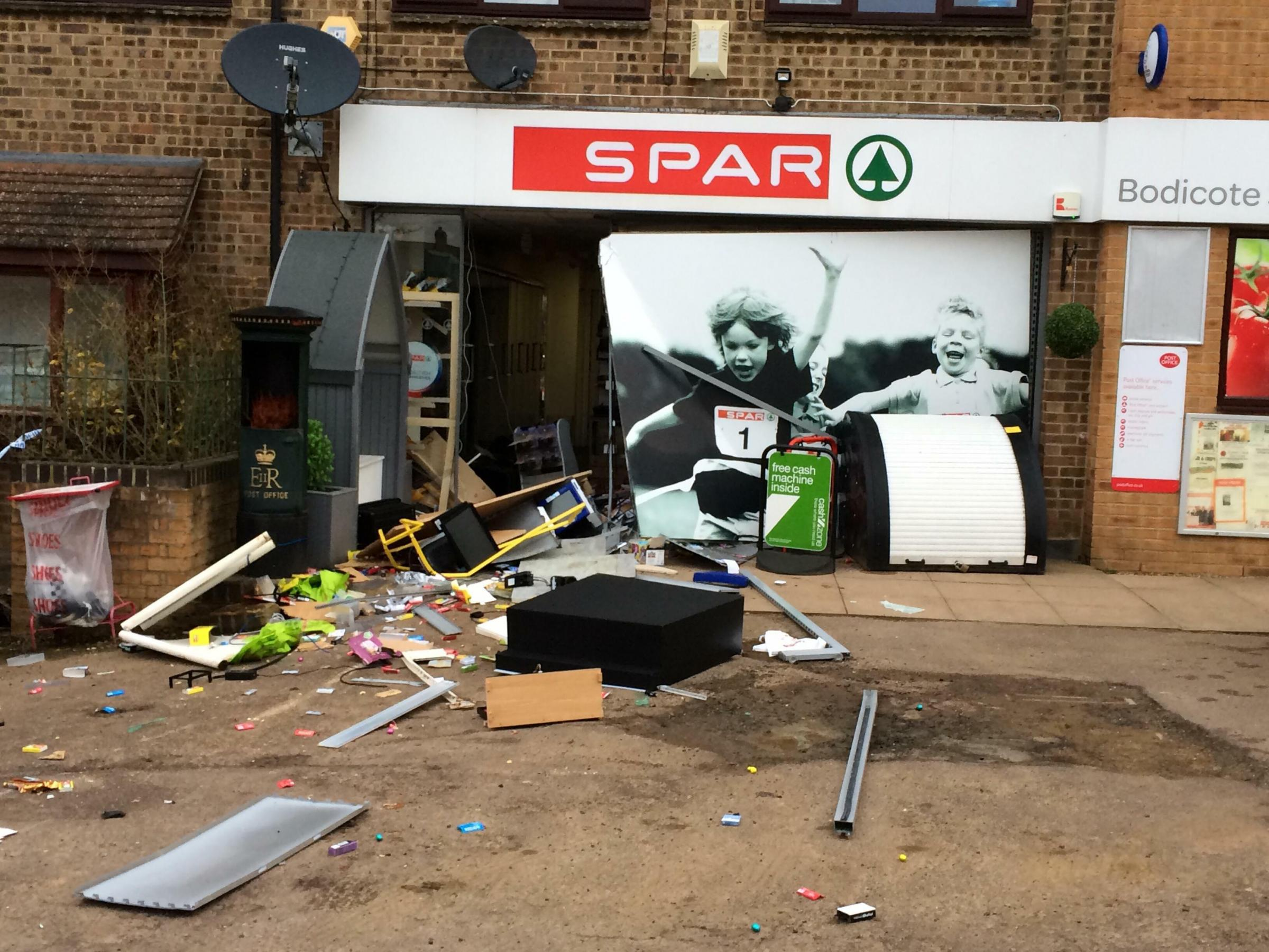 Spar in Bodicote following the ram raid