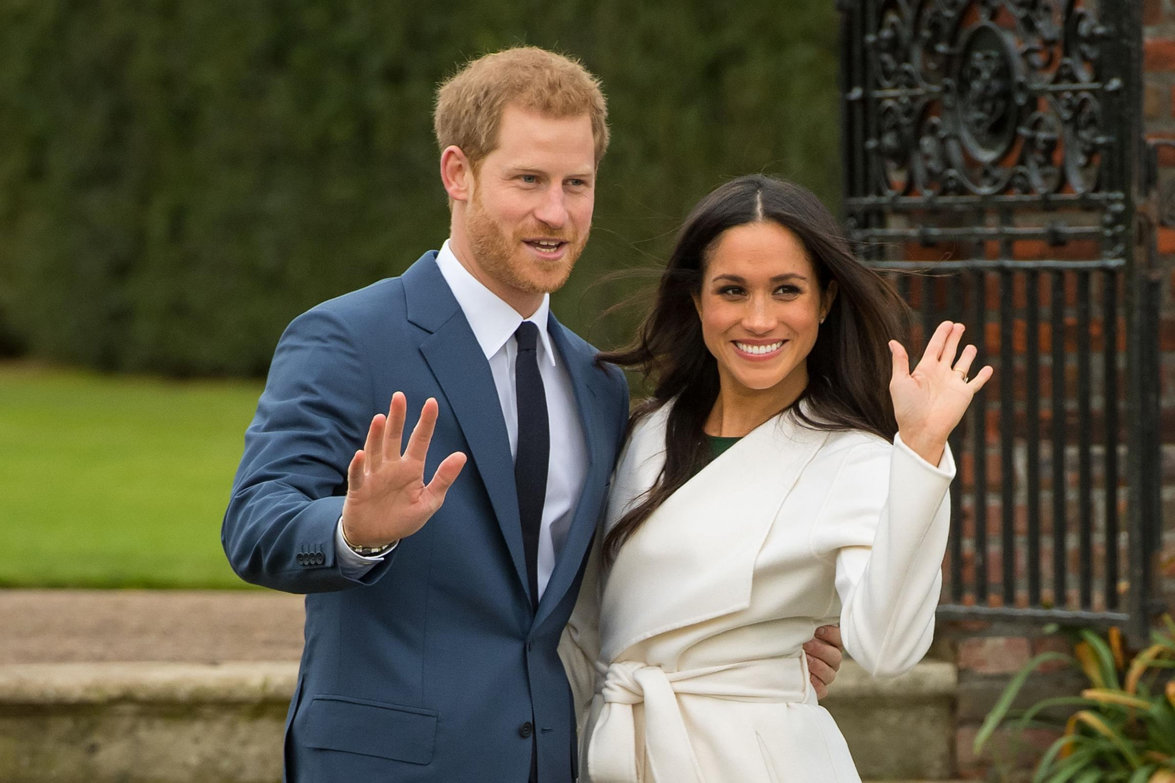 Prince Harry and Meghan Markle. Pic: Dominic Lipinski/PA Wire