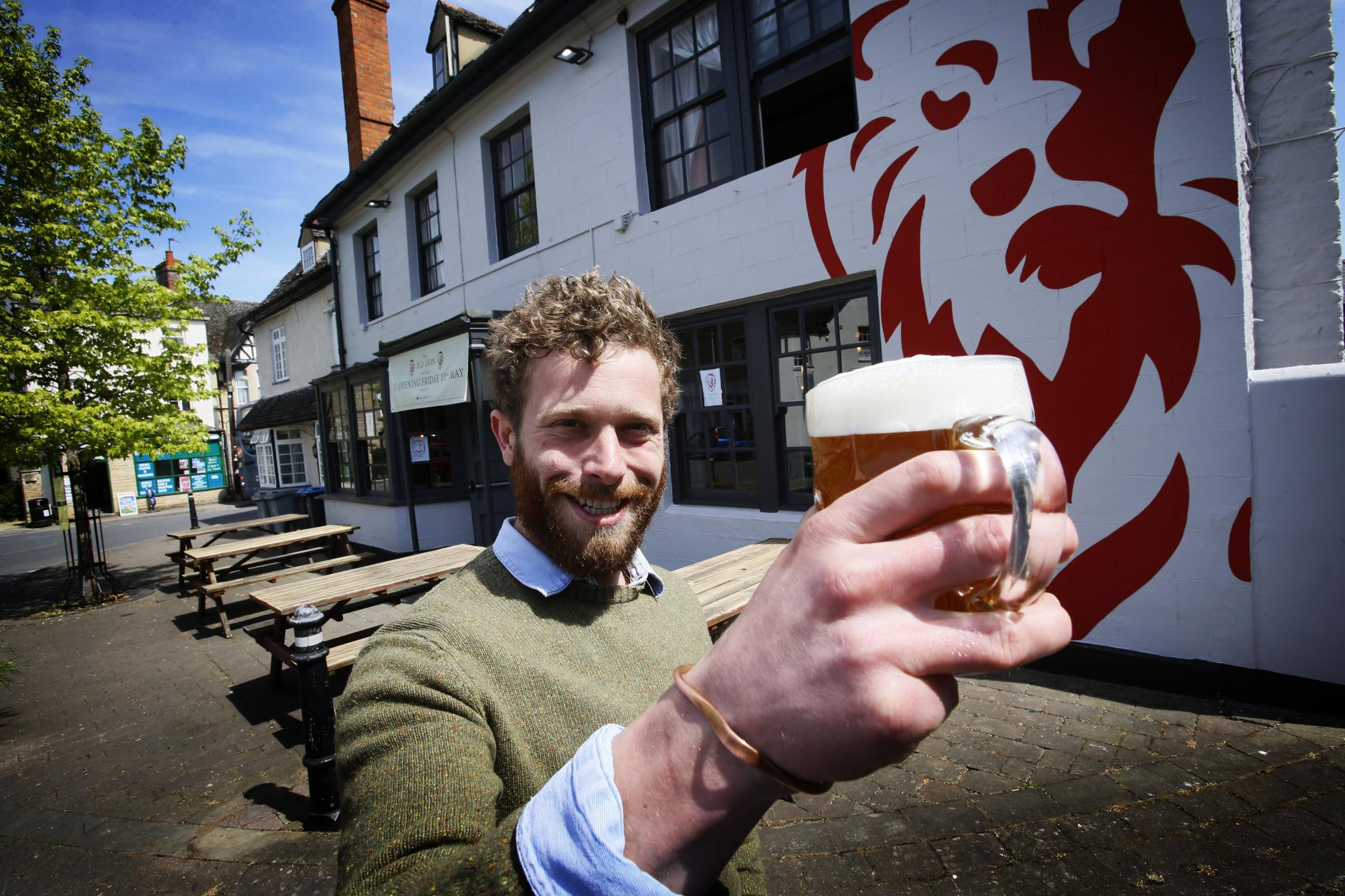 Jolly Postboys' George Harwood-Dallyn, who is 'hugely excited' to open Eynsham's Red Lion. Picture: Ed Nix