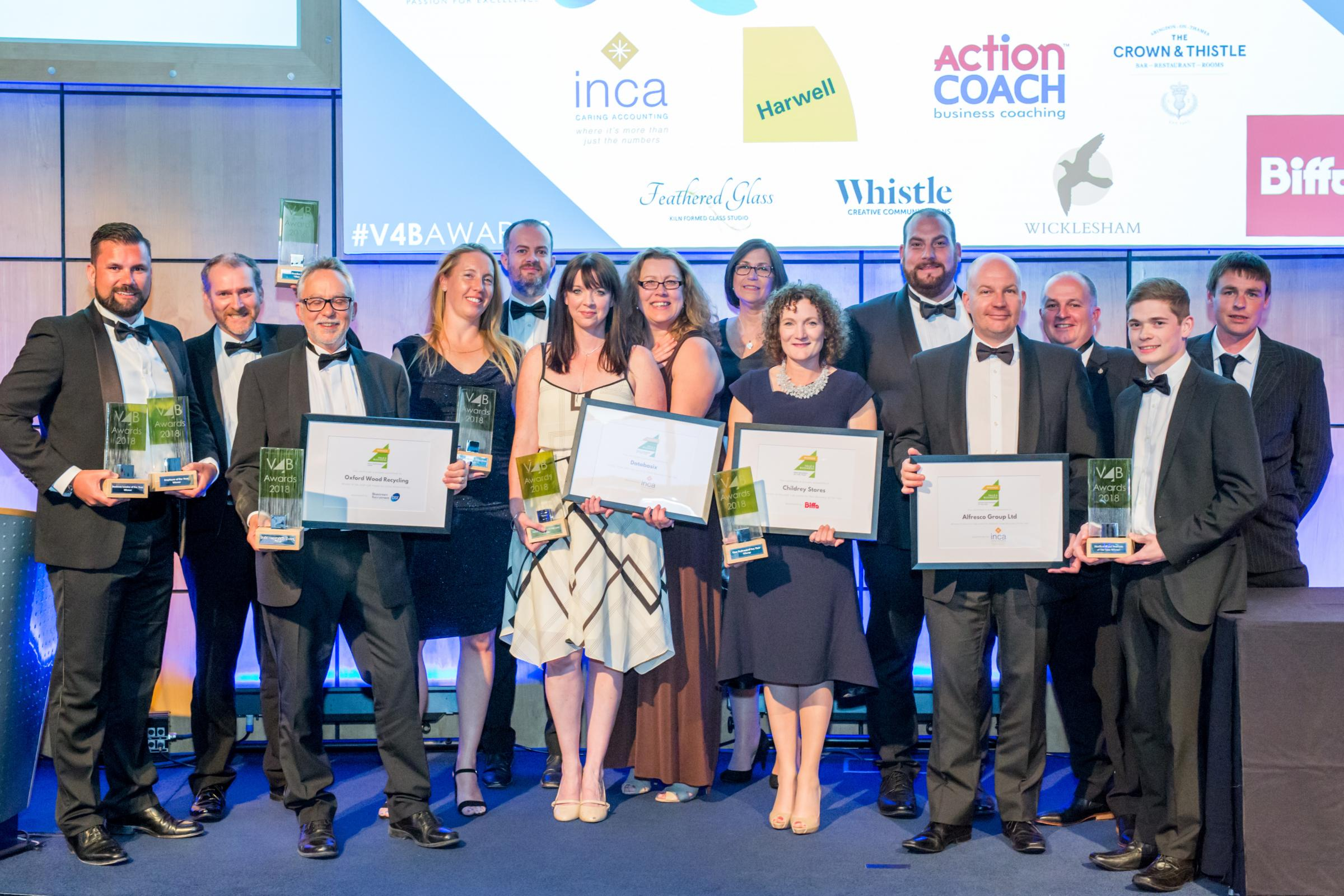 CELEBRATION: All the winners of the Vale4Business awards Photo: Chaz Snell