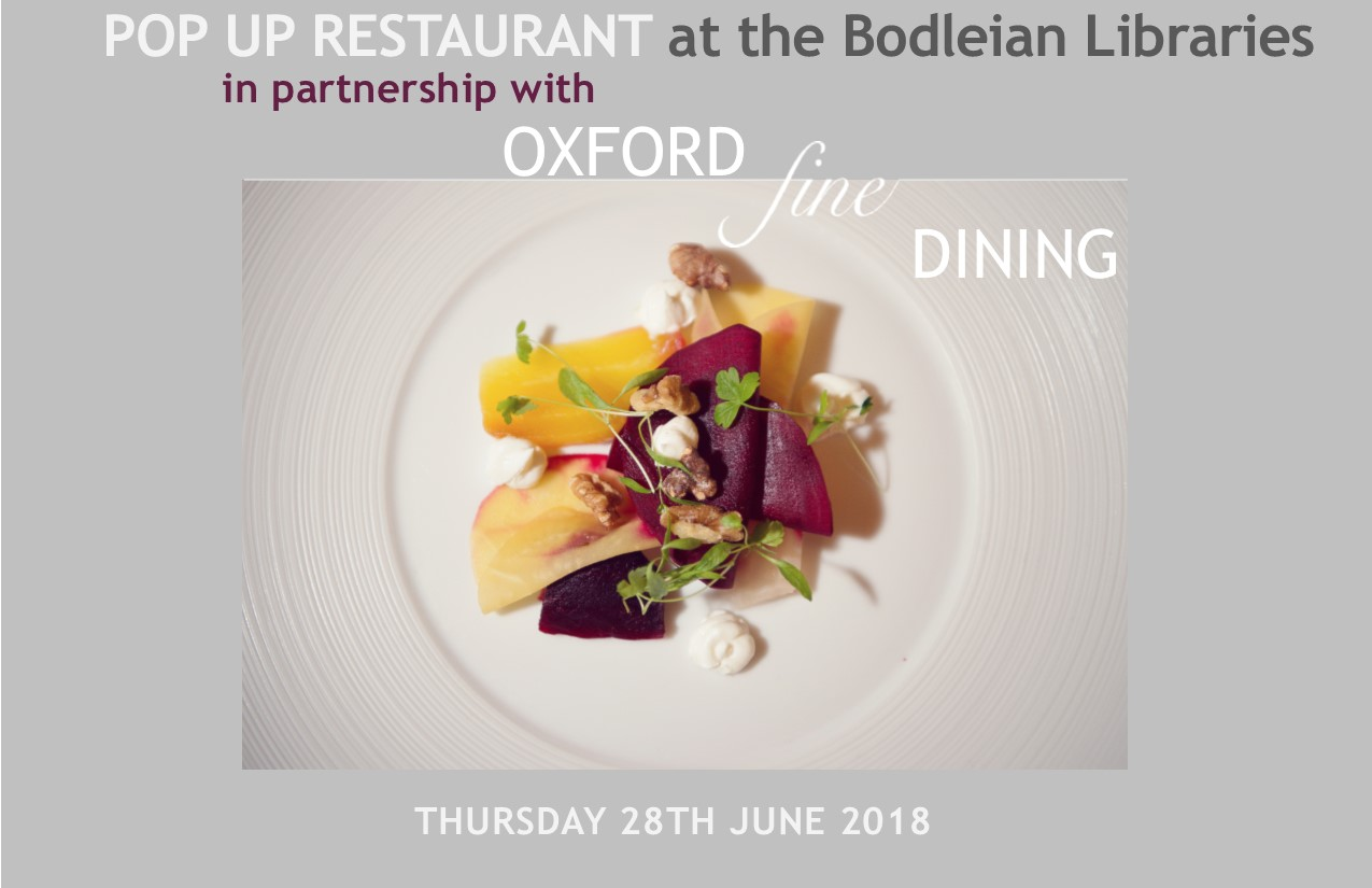 Bodleian Libraries POP UP RESTAURANT