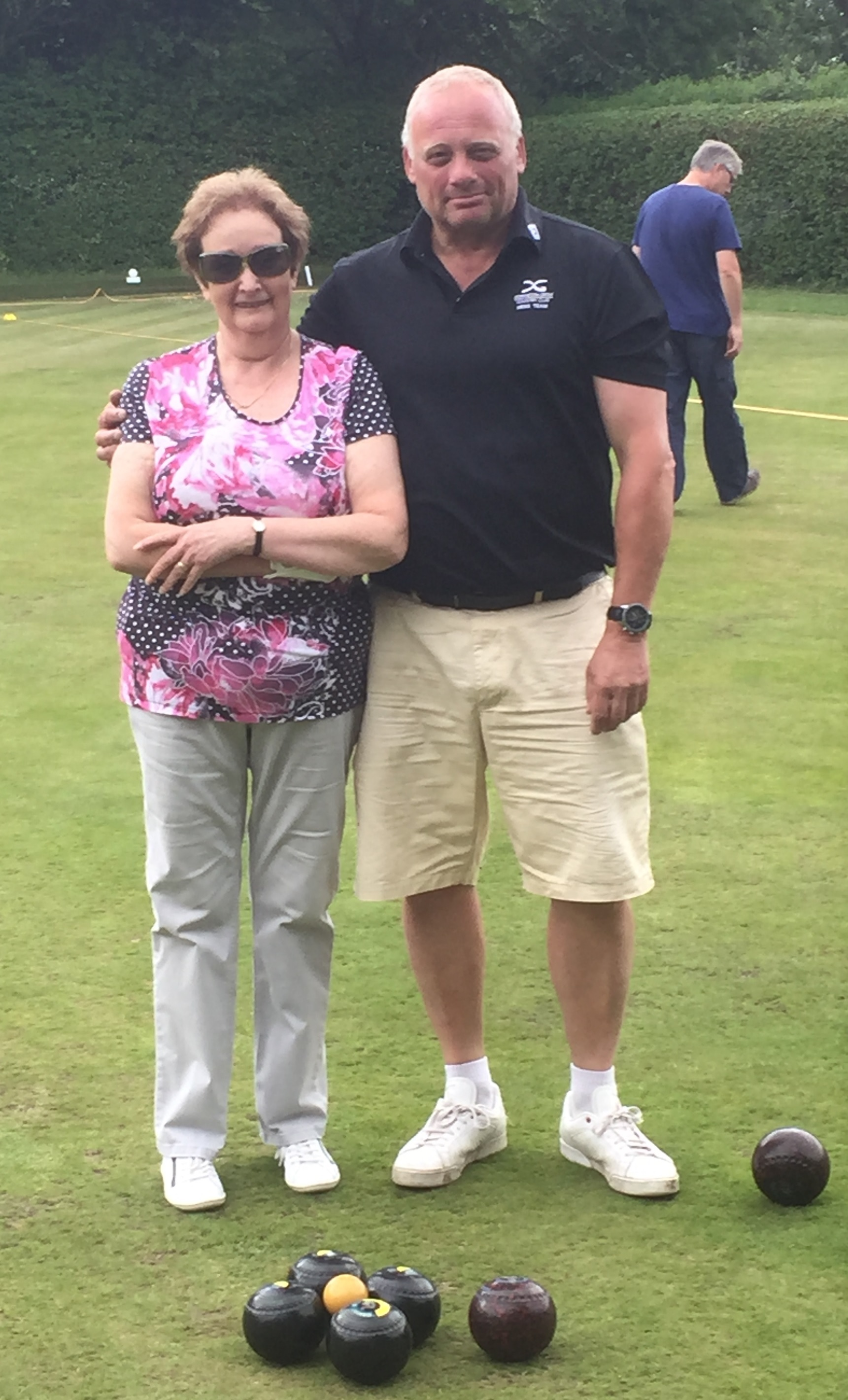 Jean Hiatt and Tim Brunsden who reached the final of the 30-Up competition at Wychwood BC