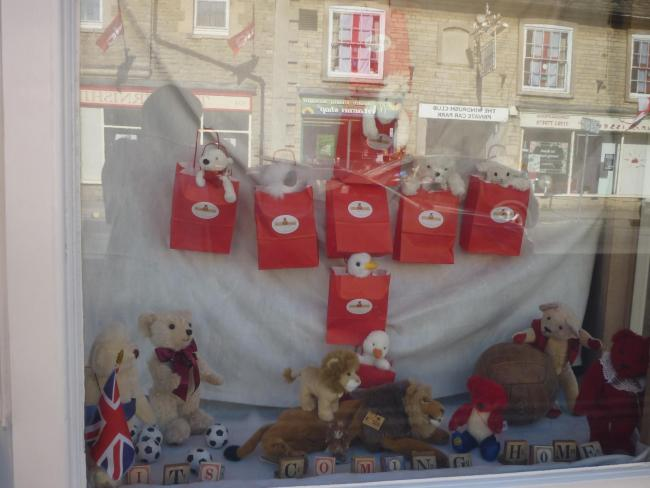 This is how Teddy Bears of Witney is cheering on the England Team - it's coming home!...
