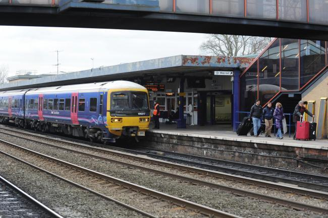 A person was hit by a train in the West Drayton area