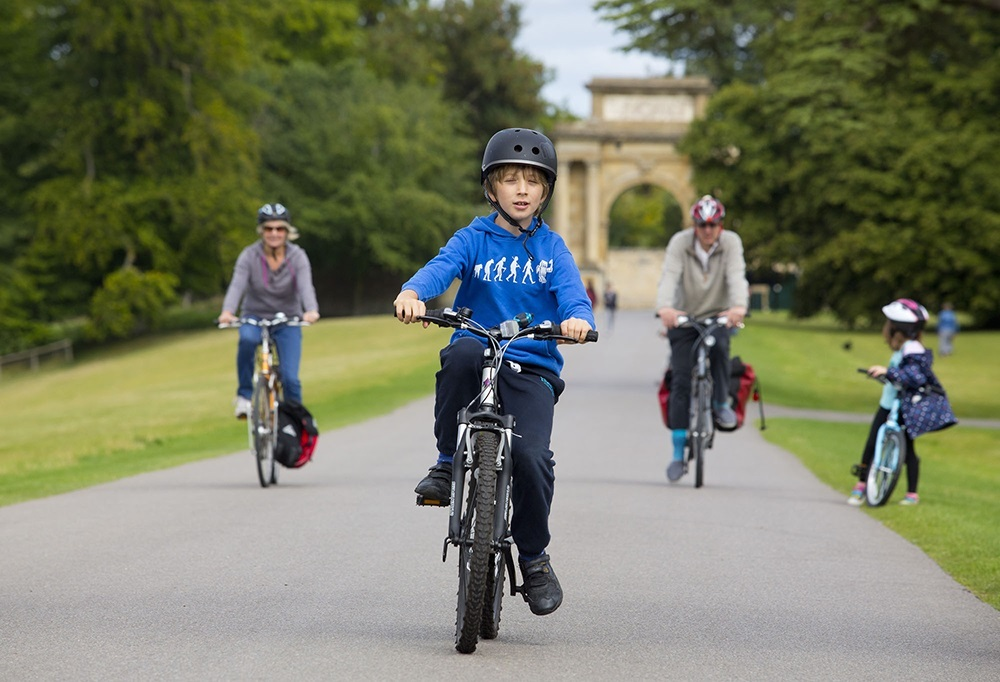 Families can tour Blenheim Palace by bike on the annual Family Cycling Day this Sunday