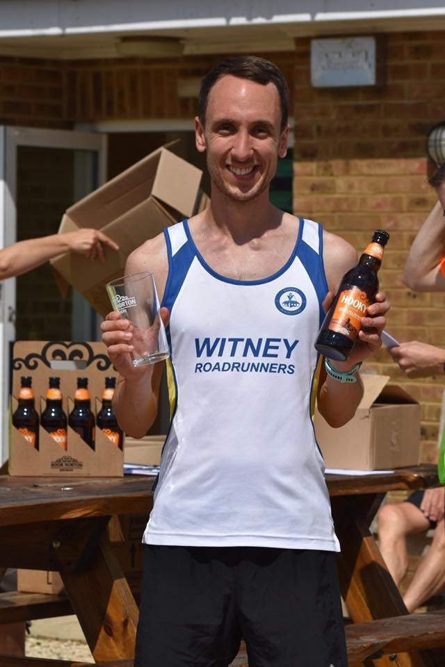 Witney's Sam Upton with his award for finishing third Picture: Sharon Empson Moore