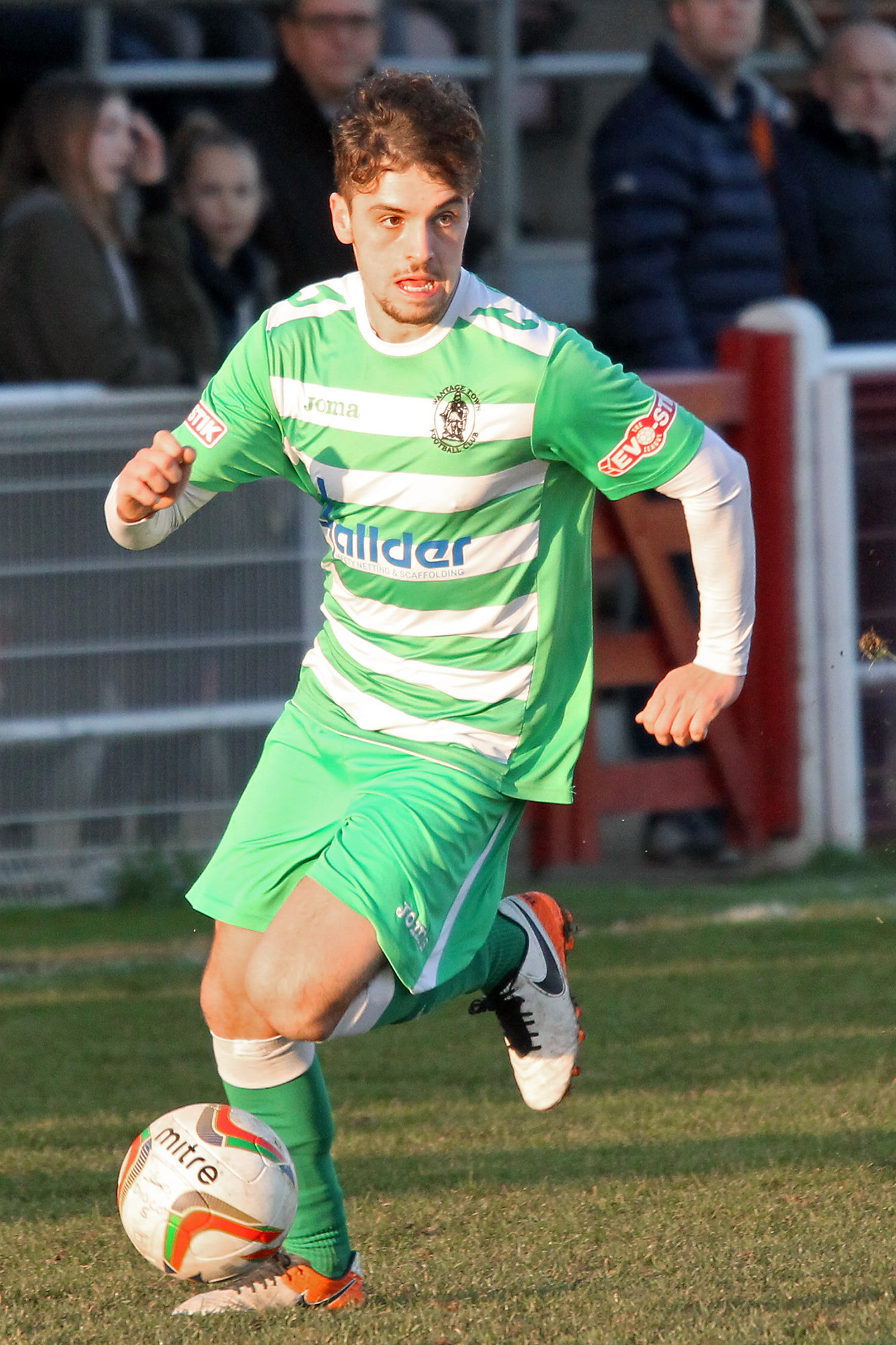 PROGRESS: Harvey Scholes was among the scorers as Wantage Town went through in an eventful Emirates FA Cup tie at Oxhey Jets  Picture: Ric Mellis