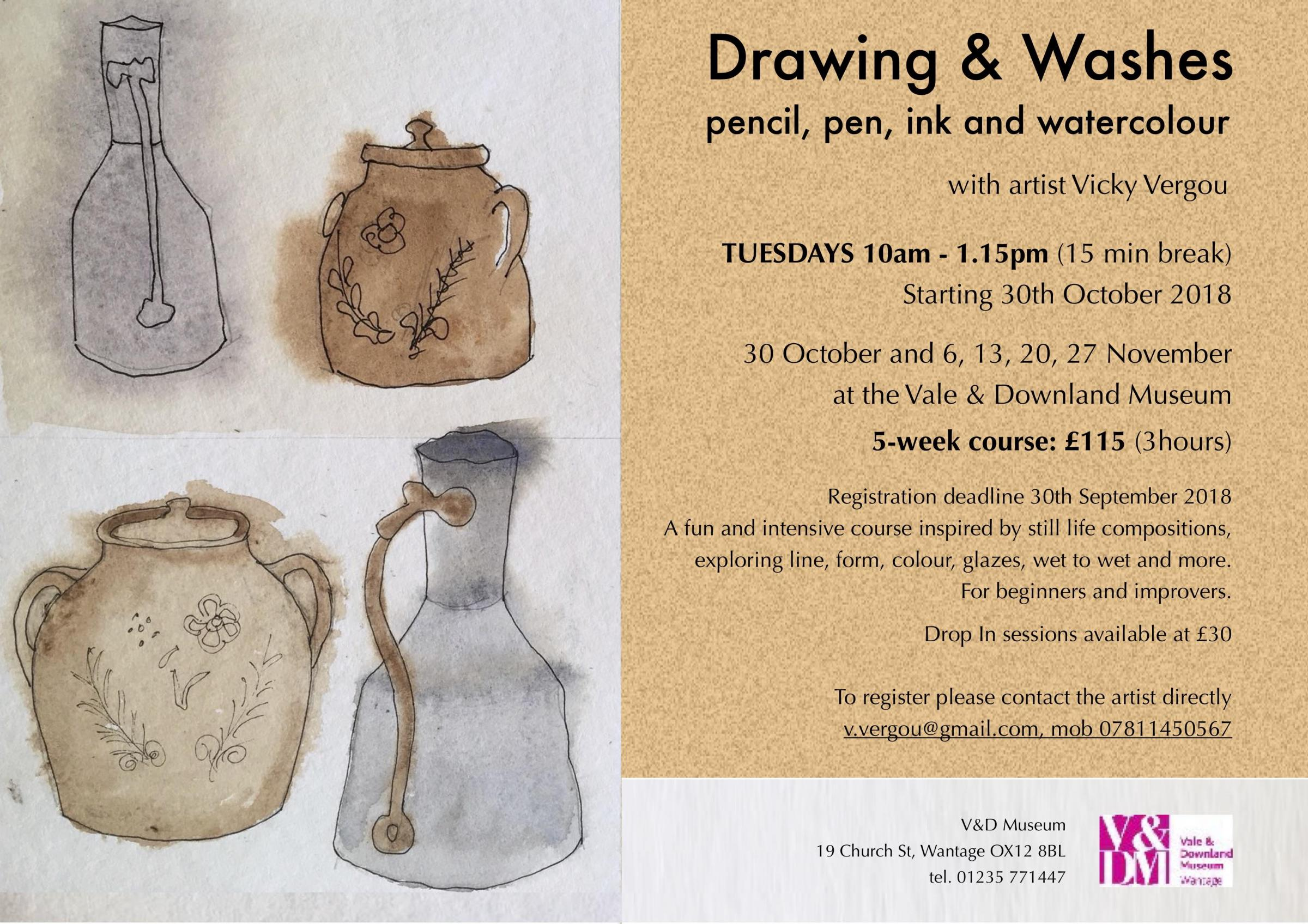 Drawing & Washes Art Course