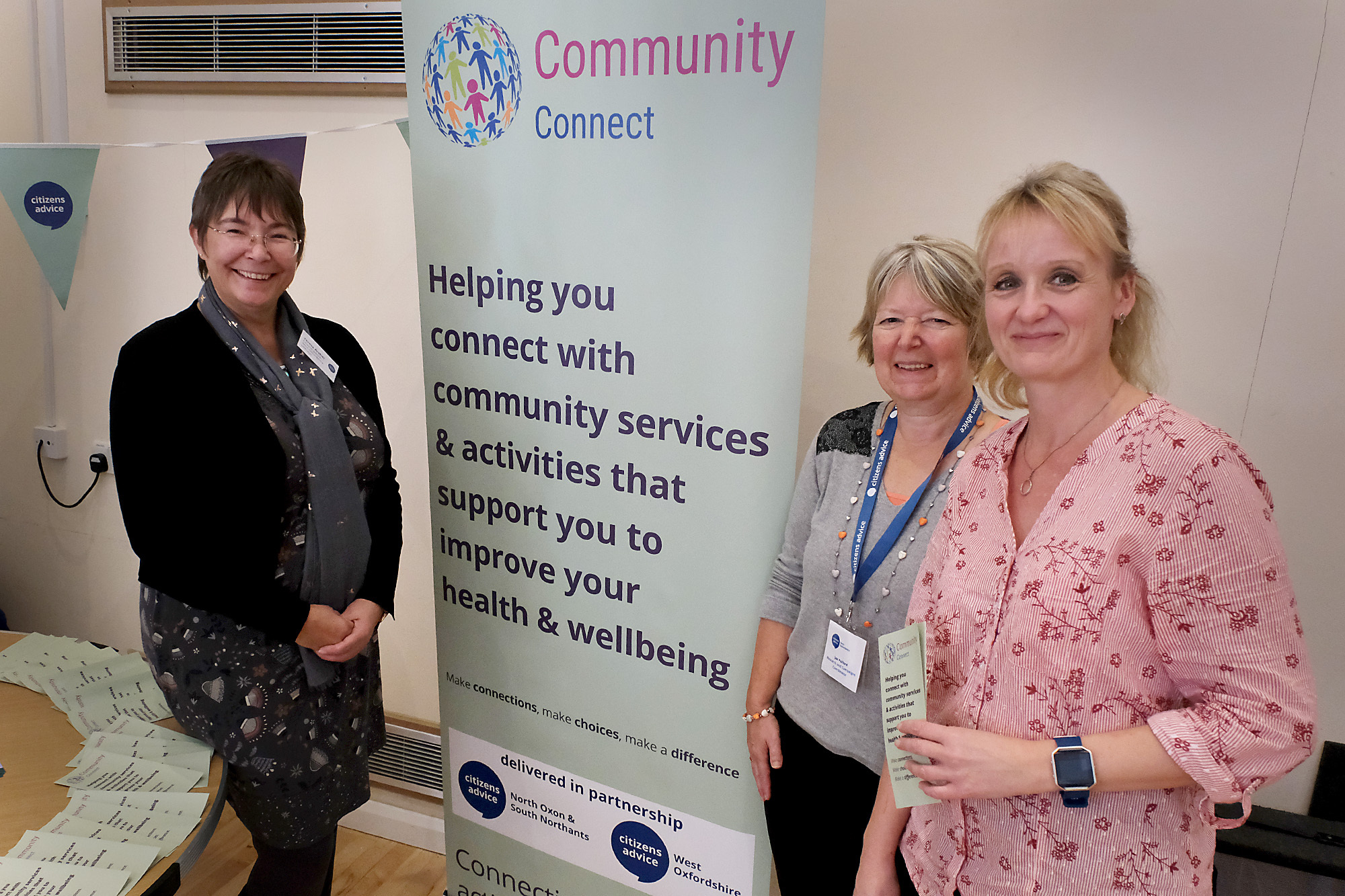Teresa Archer (left), chief executive of the West Oxfordshire Citizens Advice Burea and volunteers Jan Pulford and Clare Chandler Picture: Ric Mellis