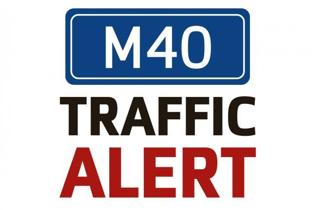 Lanes closed on M40 after fuel spill from multi-vehicle crash