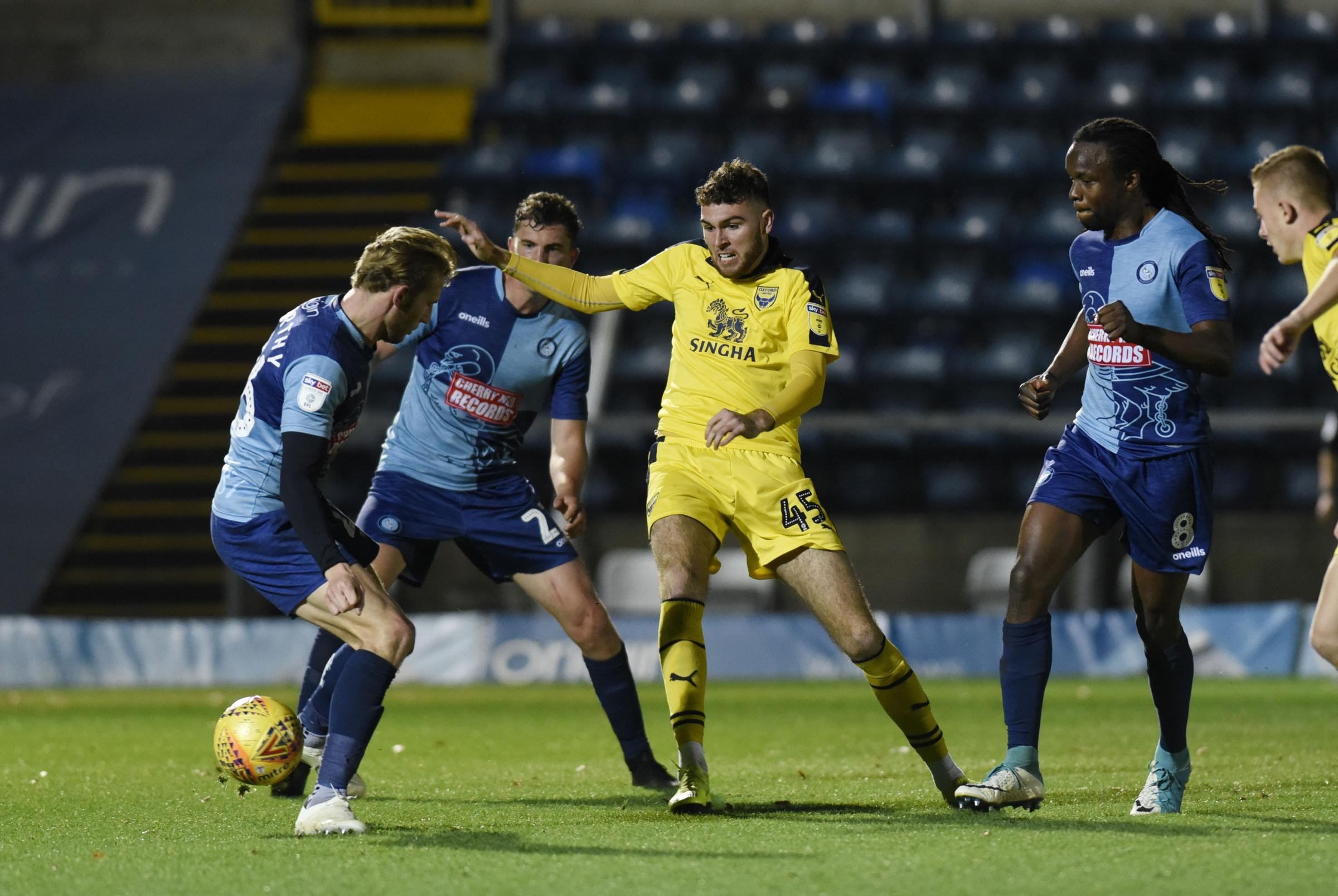 Harvey Bradbury made his Oxford United debut in the Checkatrade Trophy group stage win at Wycombe Wanderers in November  Picture: David Fleming
