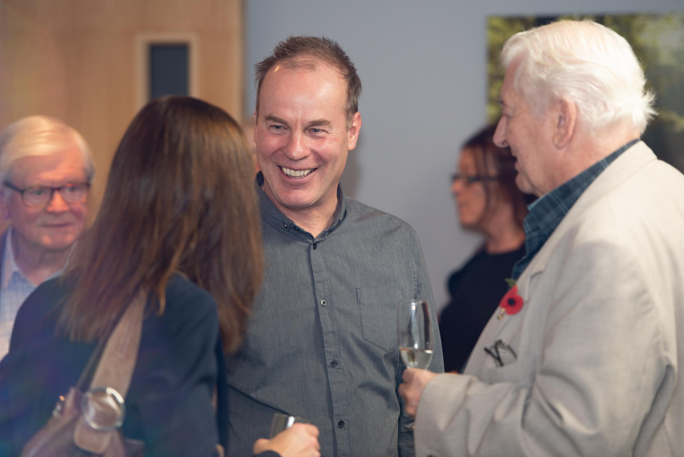 Mike Jennings with guests at the Mentors celebration. Picture Jacqueline Cross