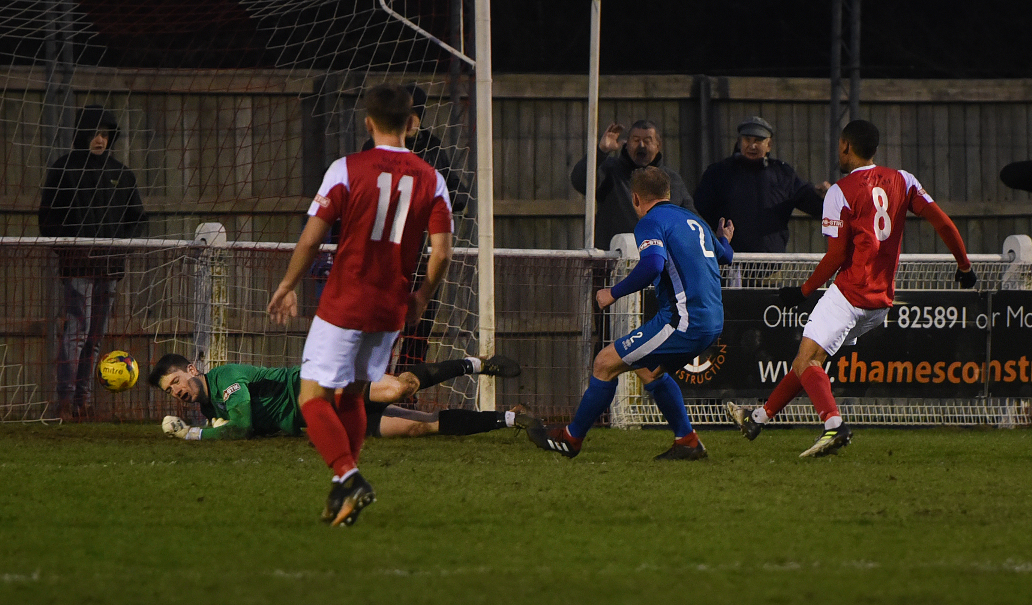 Didcot Town's two-goal hero Callum McNish finds the net to boost his side's play-off bidPictures: Richard Cave