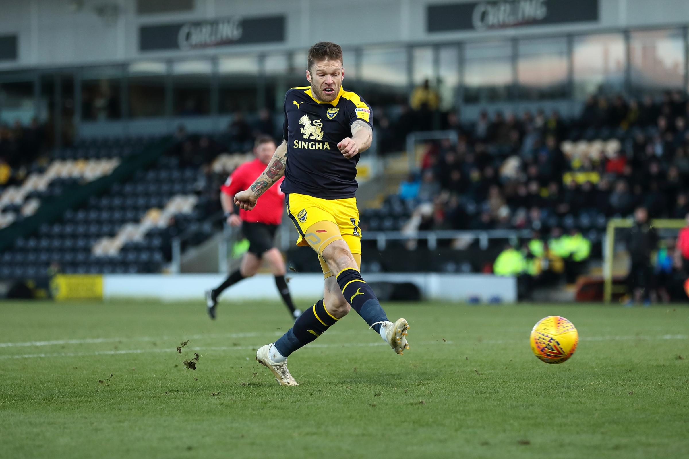 Jamie Mackie goes for goal in the 0-0 draw at Burton Albion earlier this month   Picture: James Williamson