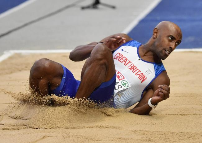 Nathan Douglas in action at the European Athletics Championships in 2018   Picture: AP Photo/Martin Meissner