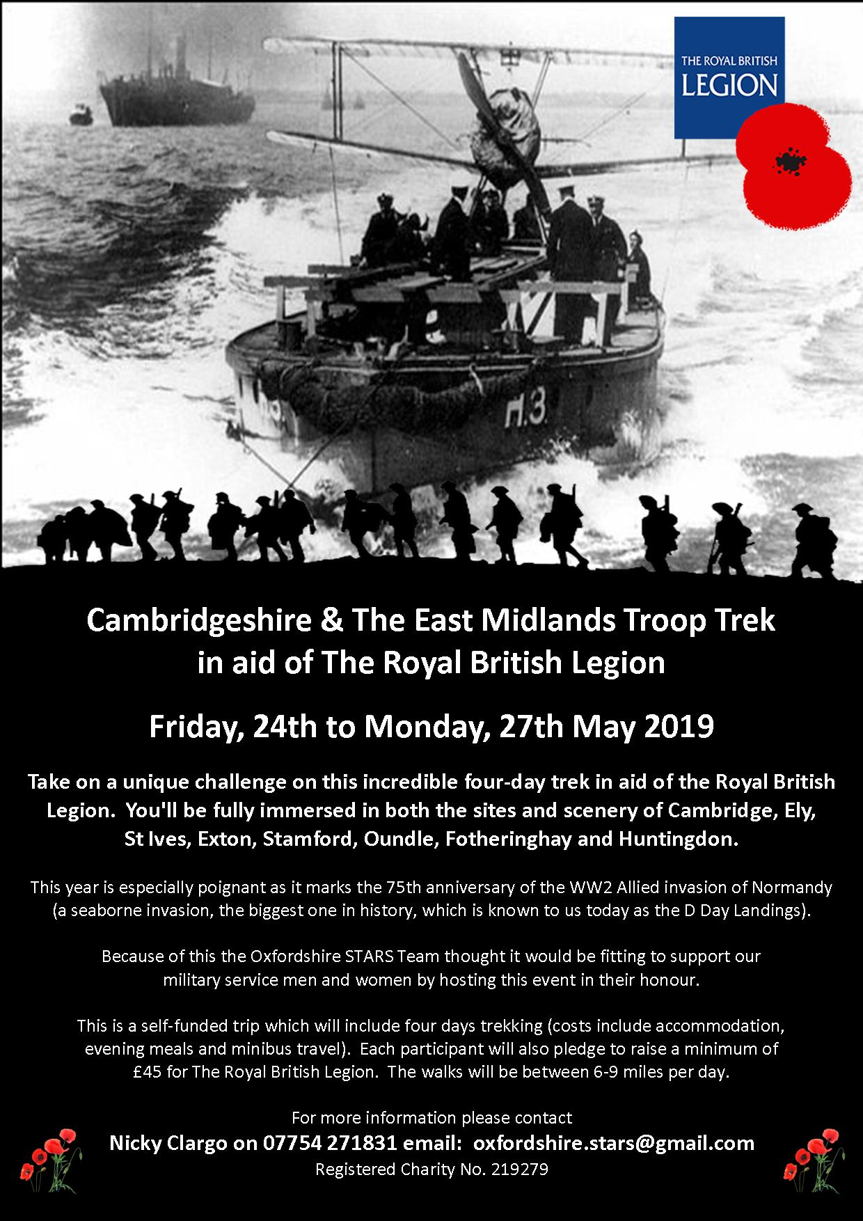 Troop Trek in Cambridgeshire and the East Midlands