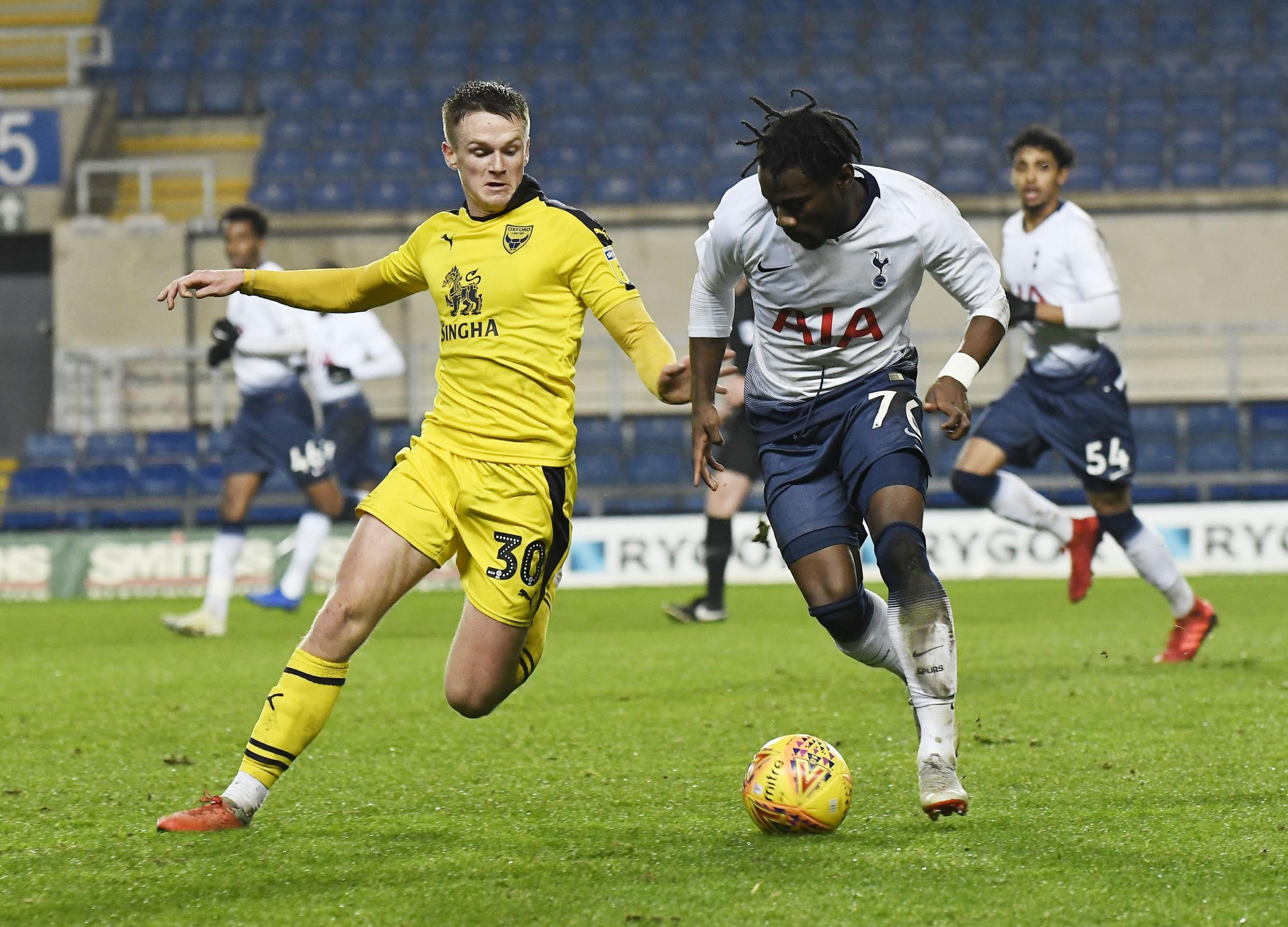 Armani Little's only Oxford United start came against Tottenham Under 21s in the Checkatrade Trophy  Picture: David Fleming