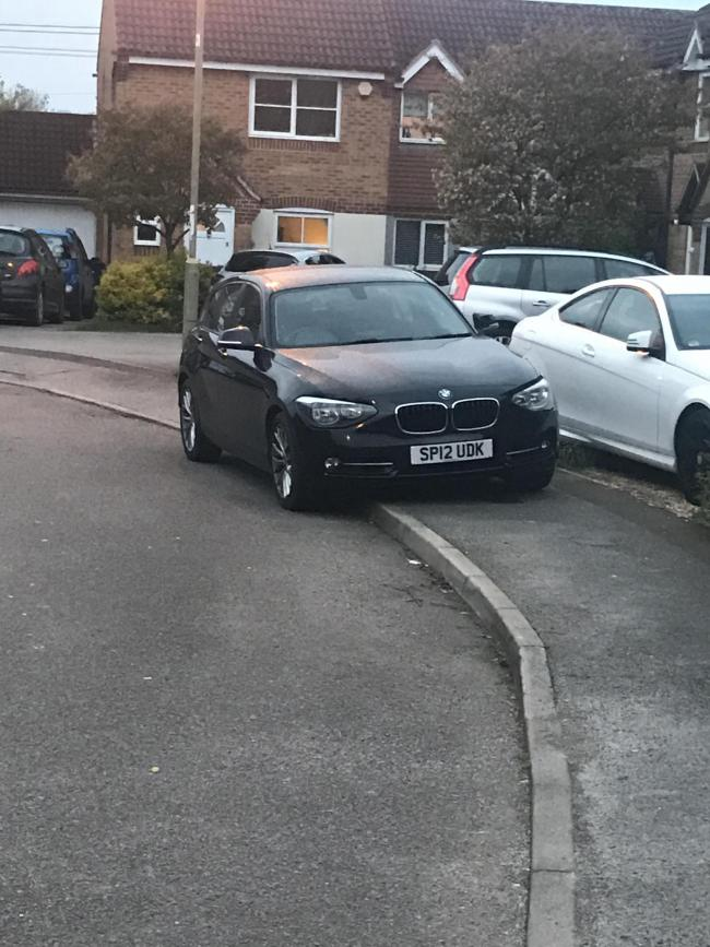 Parked on pavement, Partridge Walk, Oxford