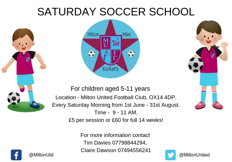 Milton Mini Kickers - Saturday Soccer School