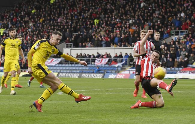Oxford United's Gavin Whyte fires in a shot against Sunderland, who are favourites to win Sky Bet League One next season Picture: David Fleming