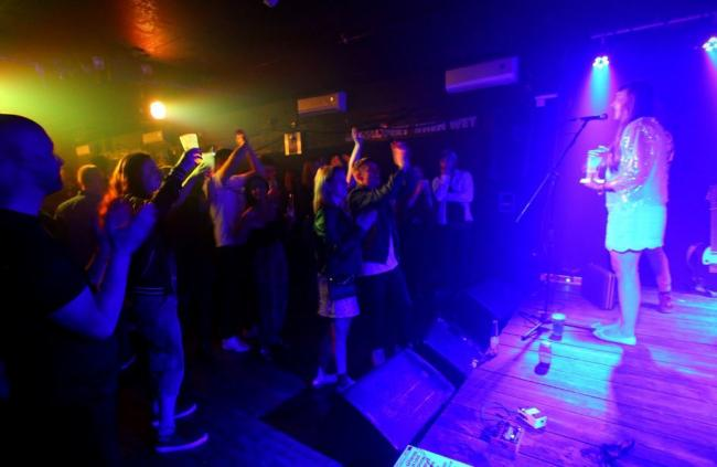 Fat Lil's Cafe in Witney was packed out for the anti-knife crime gig Picture: Joe Nadin