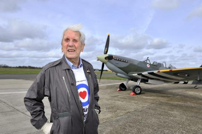 Battle of Britain hero, Allan Scott, will be at Ramsden Fete tomorrow afternoon Picture: Paula McGilligan